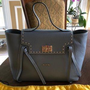 Valentino Blue Camilla Leather Tote Bag NEW